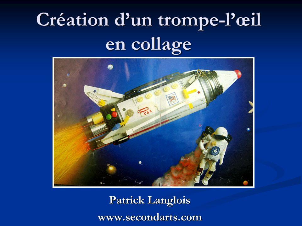 Création dun trompe-lœil en collage Patrick Langlois www.secondarts.com