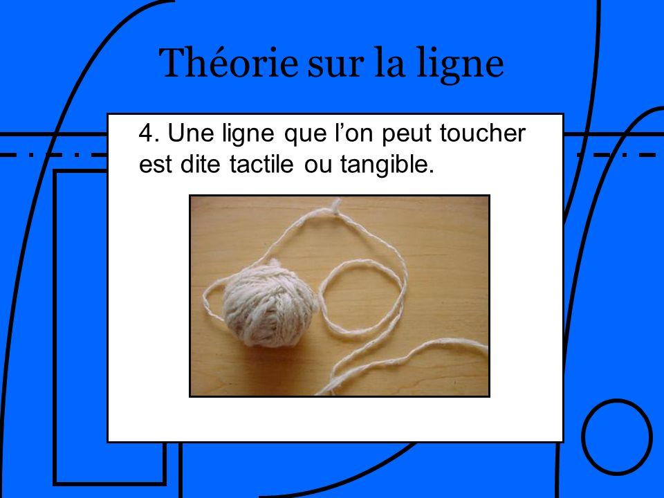Théorie sur la ligne 4. Une ligne que lon peut toucher est dite tactile ou tangible.