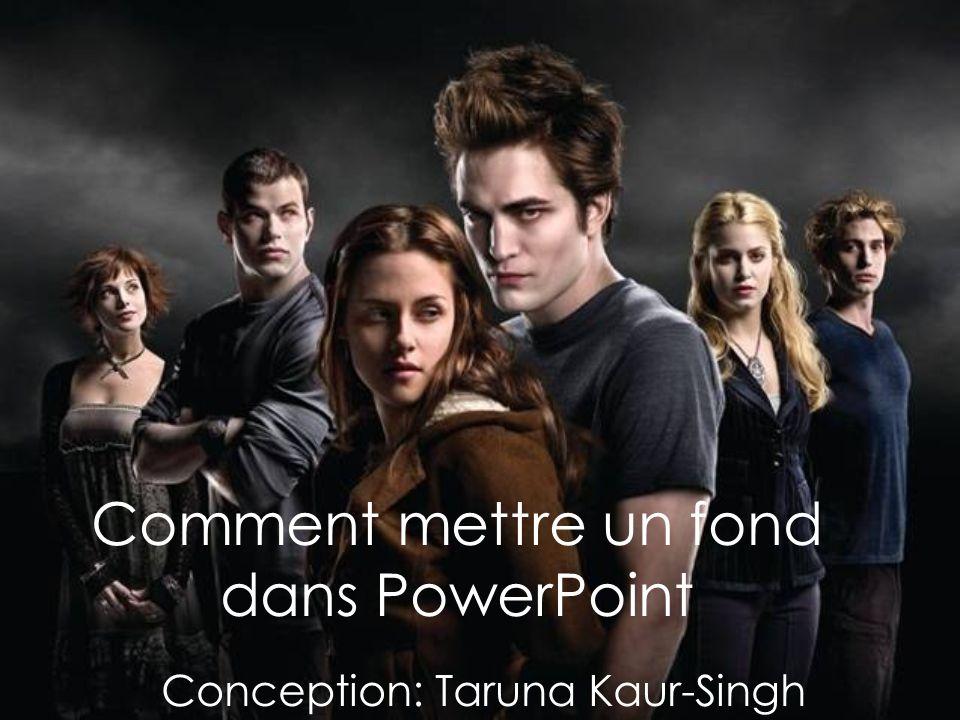 Comment mettre un fond dans PowerPoint Conception: Taruna Kaur-Singh
