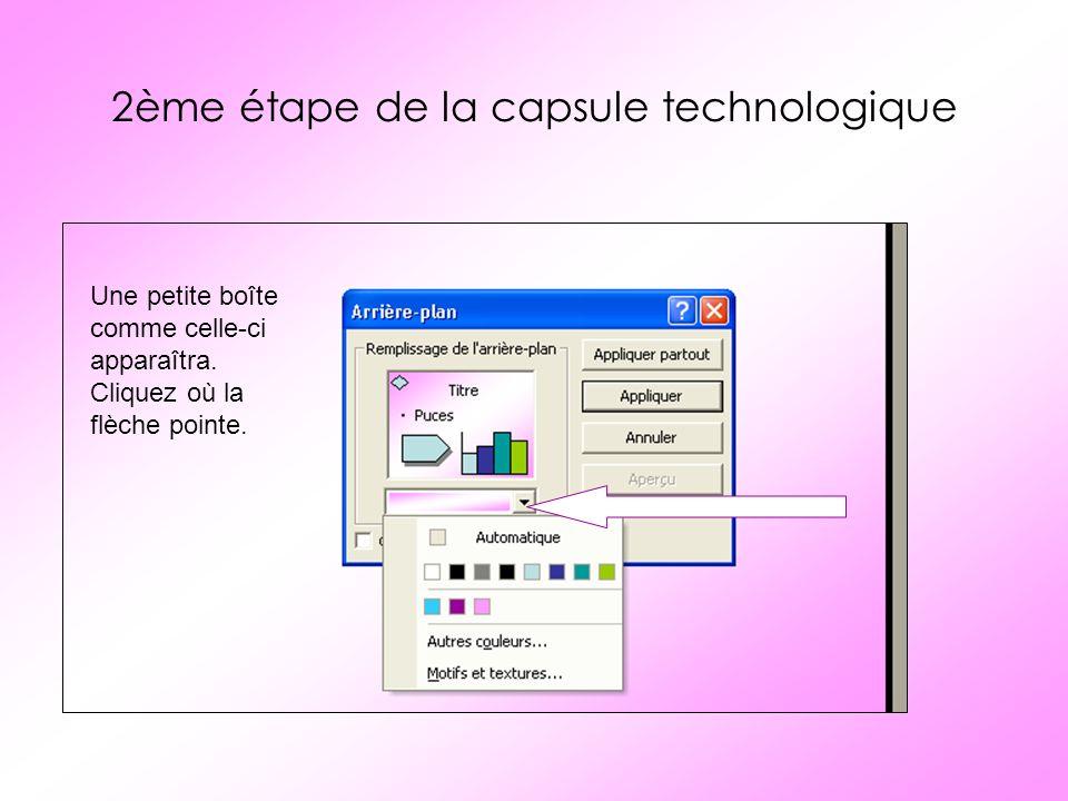 3ème étape de la capsule technologique Sélectionnez «Motifs et textures»