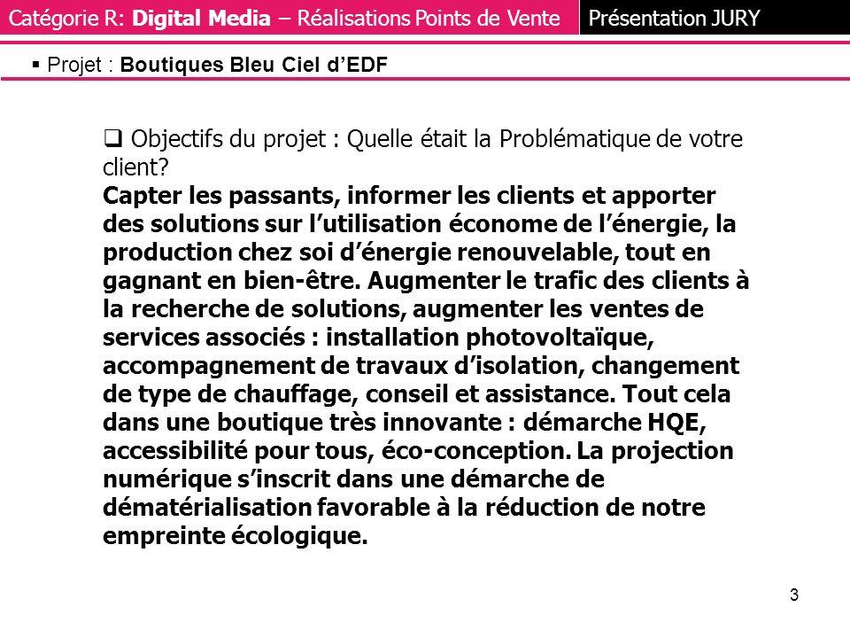 3 Objectifs du projet : Quelle était la Problématique de votre client.