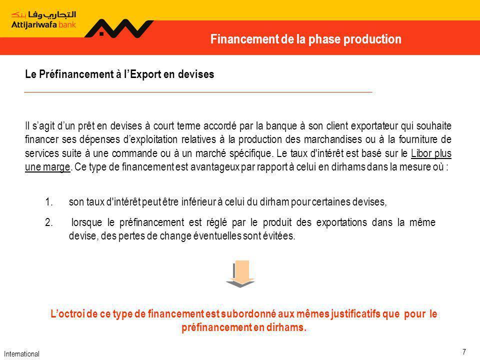 International 18 Opérations du Commerce Extérieur Cest un mode de paiement pratiqué par toute entreprise exportatrice qui traite des opérations commerciales par envoi direct des documents à son client à létranger.