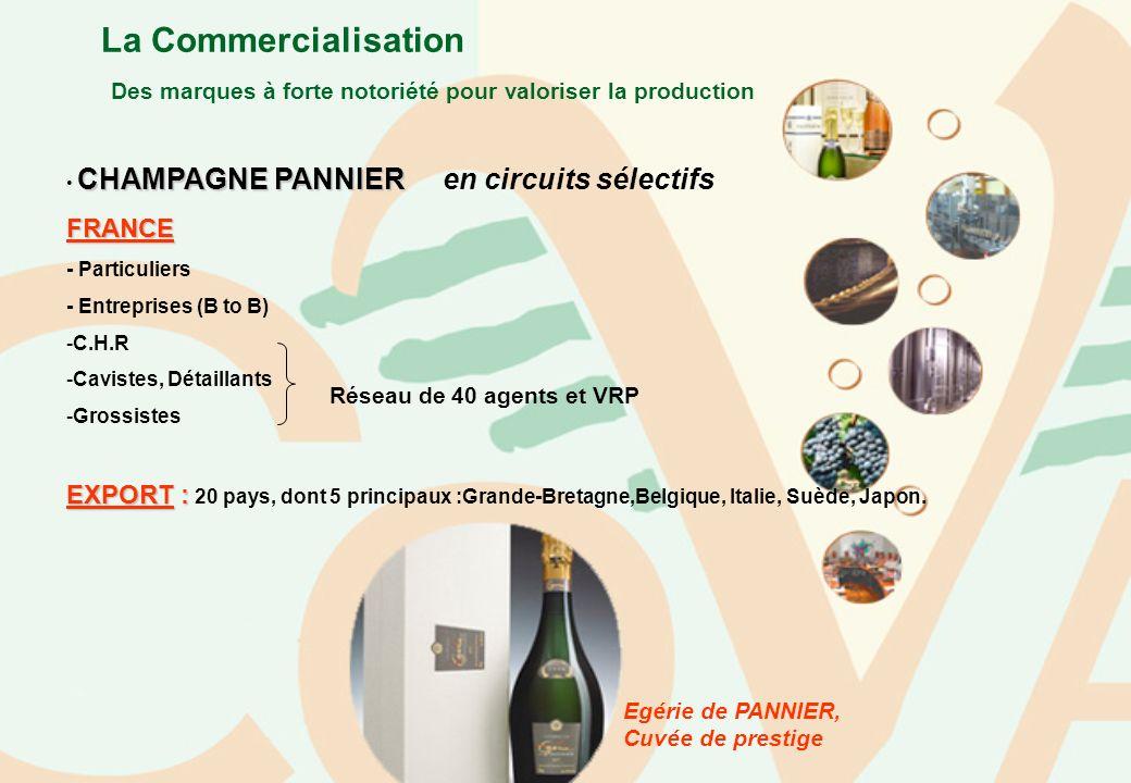 La Commercialisation Des marques à forte notoriété pour valoriser la production CHAMPAGNE PANNIER CHAMPAGNE PANNIER en circuits sélectifsFRANCE - Part