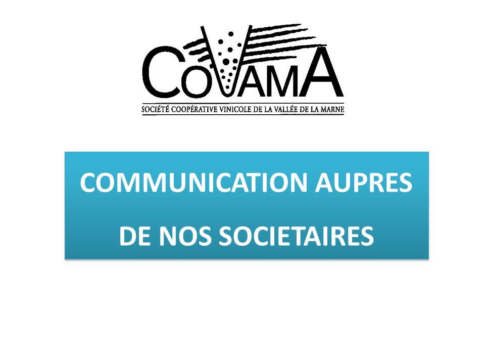 SUPPORTS DE COMMUNICATION DESTINES AUX SOCIETAIRES Support papier envoyé par courrier, à raison d une dizaine d éditions par an.