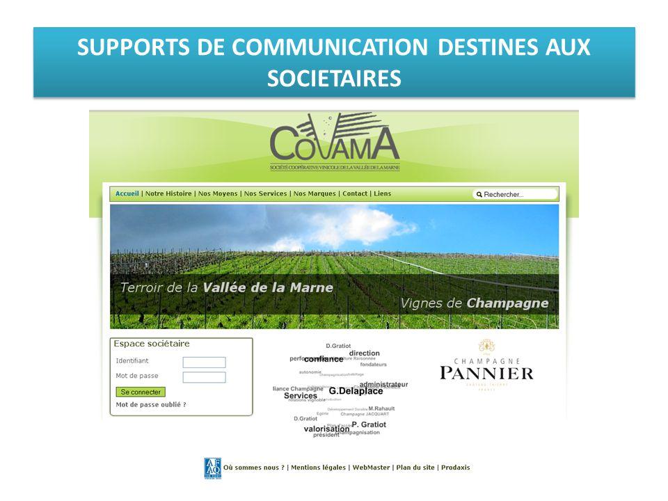 SUPPORTS DE COMMUNICATION DESTINES AUX SOCIETAIRES
