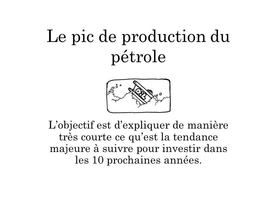 Imaginons : il nous reste 10 litres de pétrole et 1 litre de pétrole nous est nécessaire par jour.