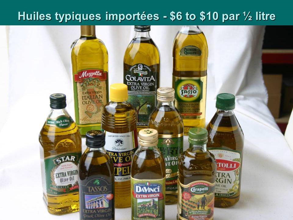 Ministère de lAgriculture du Développement Rural et des Pêches Maritimes Présentation AMCHAM 23 Huiles typiques importées - $6 to $10 par ½ litre