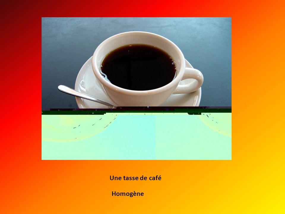 Une tasse de café Homogène
