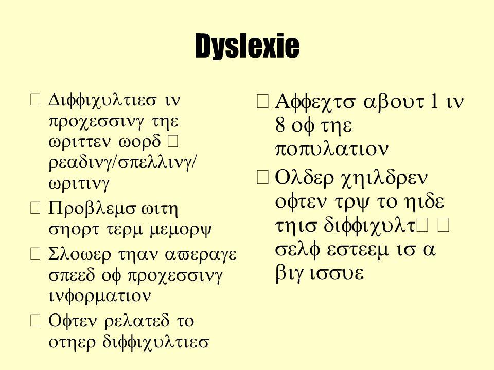 Dyslexie – –