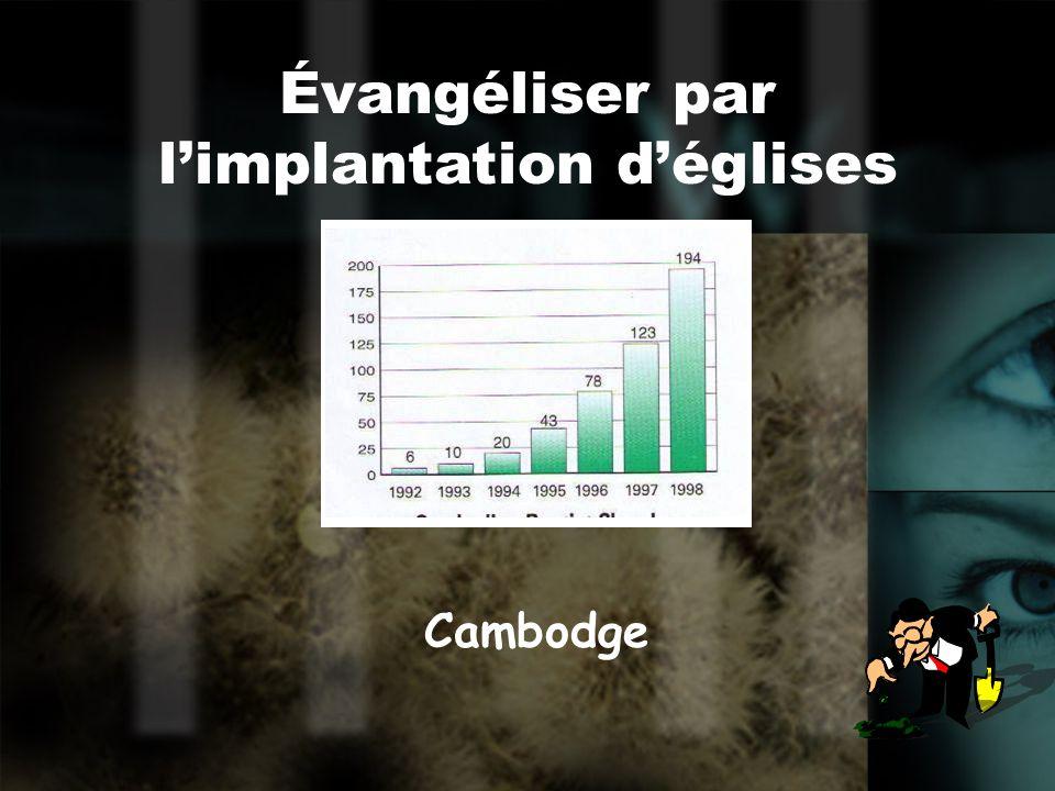 Des constats « Aussi étrange que cela puisse être, limplantation dune nouvelle Église dans une ville est une des meilleures façons de revitaliser certaines églises établies et de renouveler lensemble du corps du Christ » - Logan