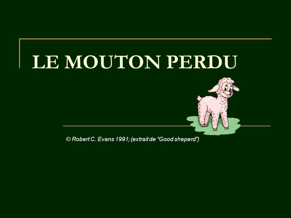 LE MOUTON PERDU © Robert C. Evans 1991; (extrait de Good sheperd)