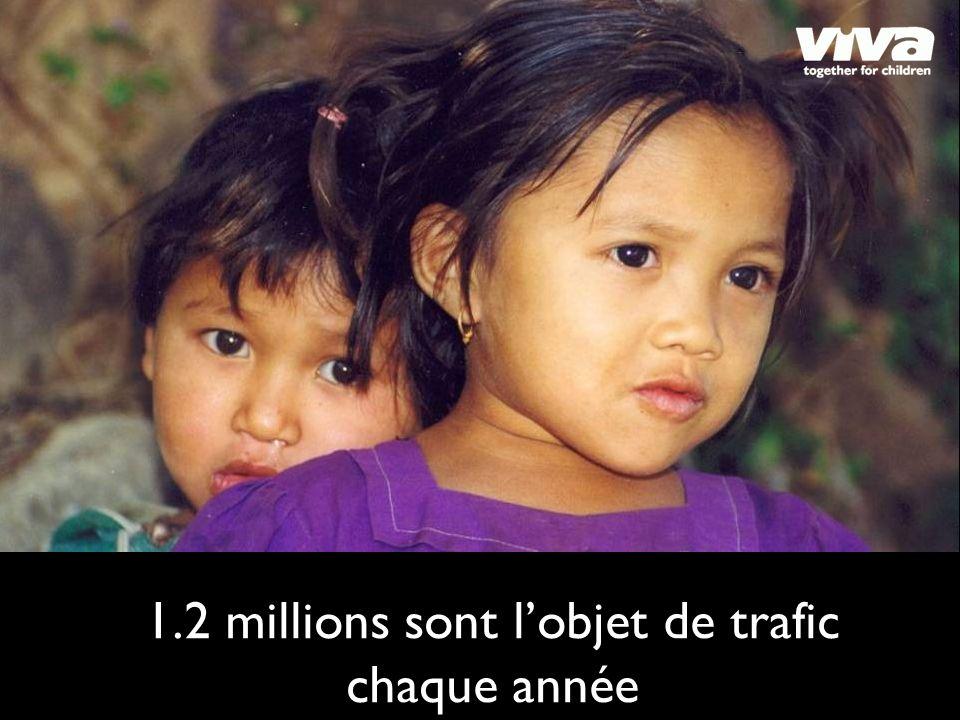1.2 millions sont lobjet de trafic chaque année