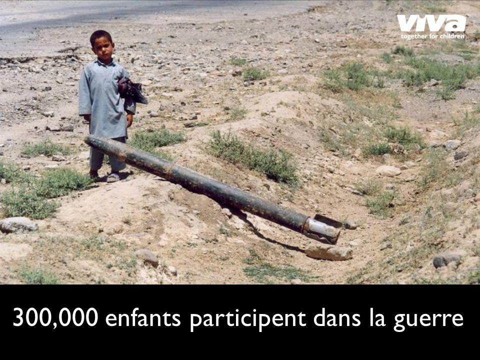 300,000 enfants participent dans la guerre