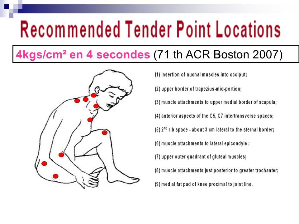 4kgs/cm² en 4 secondes (71 th ACR Boston 2007)