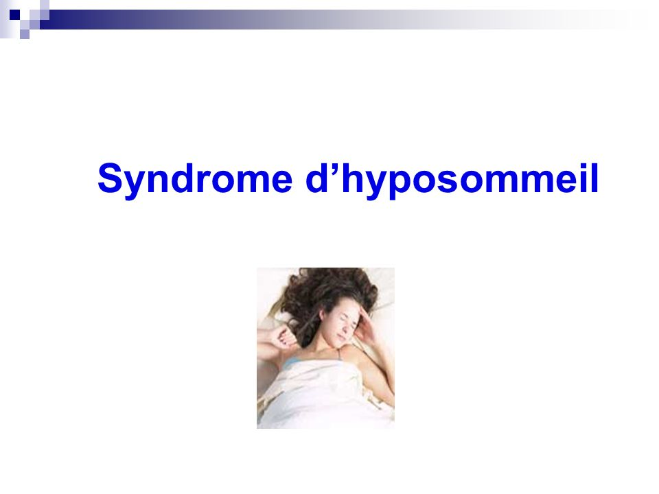 Syndrome dhyposommeil