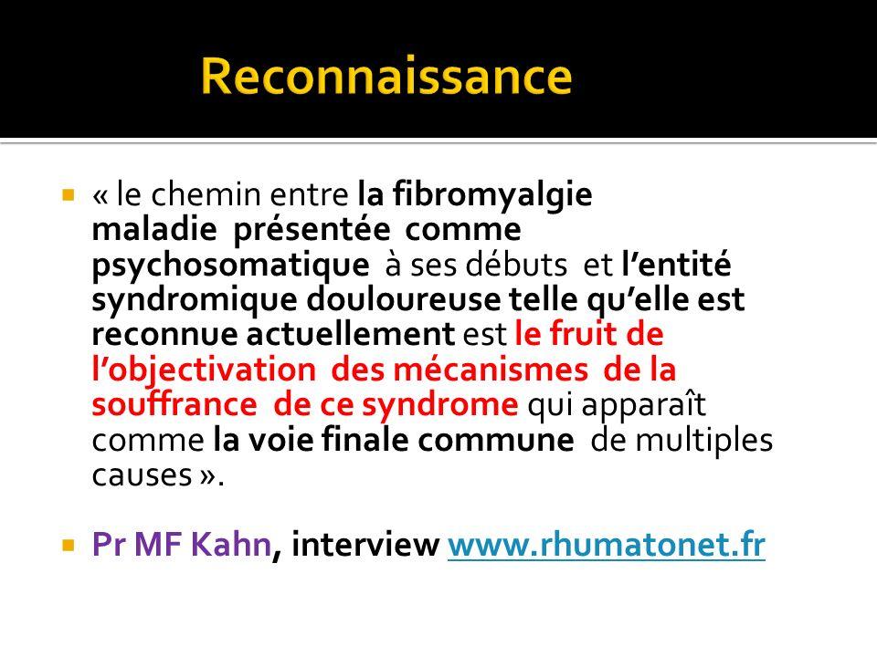 « le chemin entre la fibromyalgie maladie présentée comme psychosomatique à ses débuts et lentité syndromique douloureuse telle quelle est reconnue ac