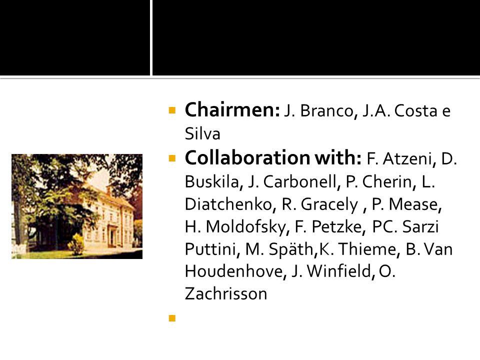 Chairmen: J. Branco, J.A. Costa e Silva Collaboration with: F. Atzeni, D. Buskila, J. Carbonell, P. Cherin, L. Diatchenko, R. Gracely, P. Mease, H. Mo