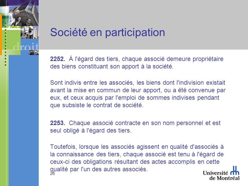 26 Société en participation 2252.