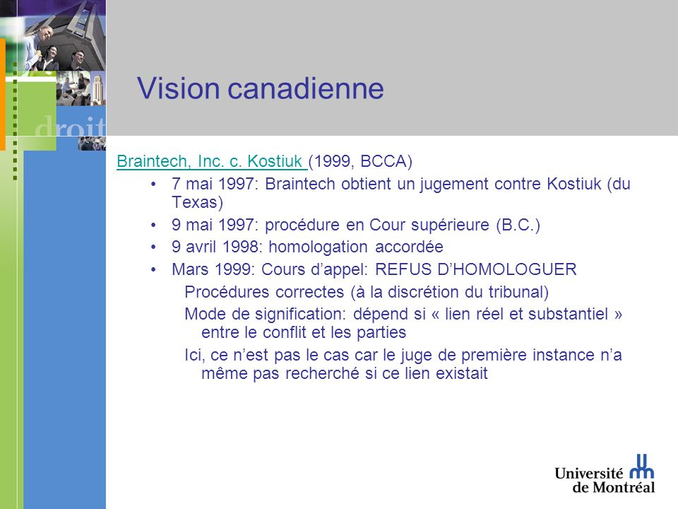 Vision canadienne Braintech, Inc. c. Kostiuk Braintech, Inc.