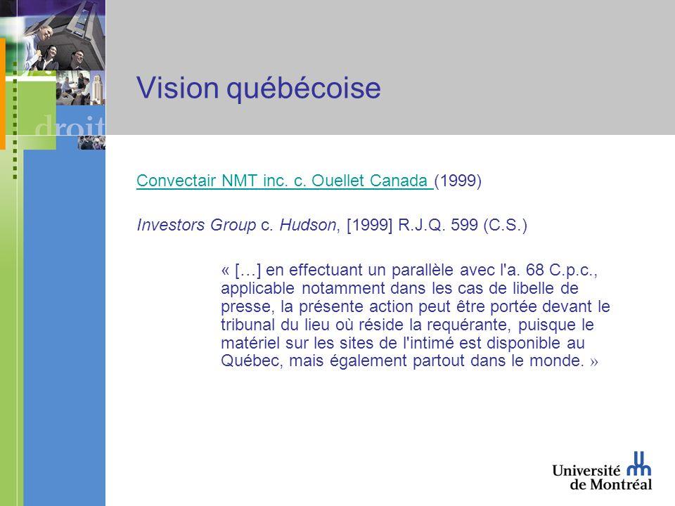 Vision québécoise Convectair NMT inc. c. Ouellet Canada Convectair NMT inc.