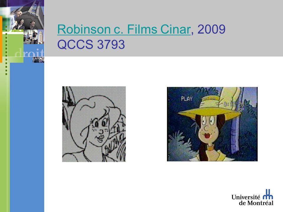 Robinson c. Films CinarRobinson c. Films Cinar, 2009 QCCS 3793
