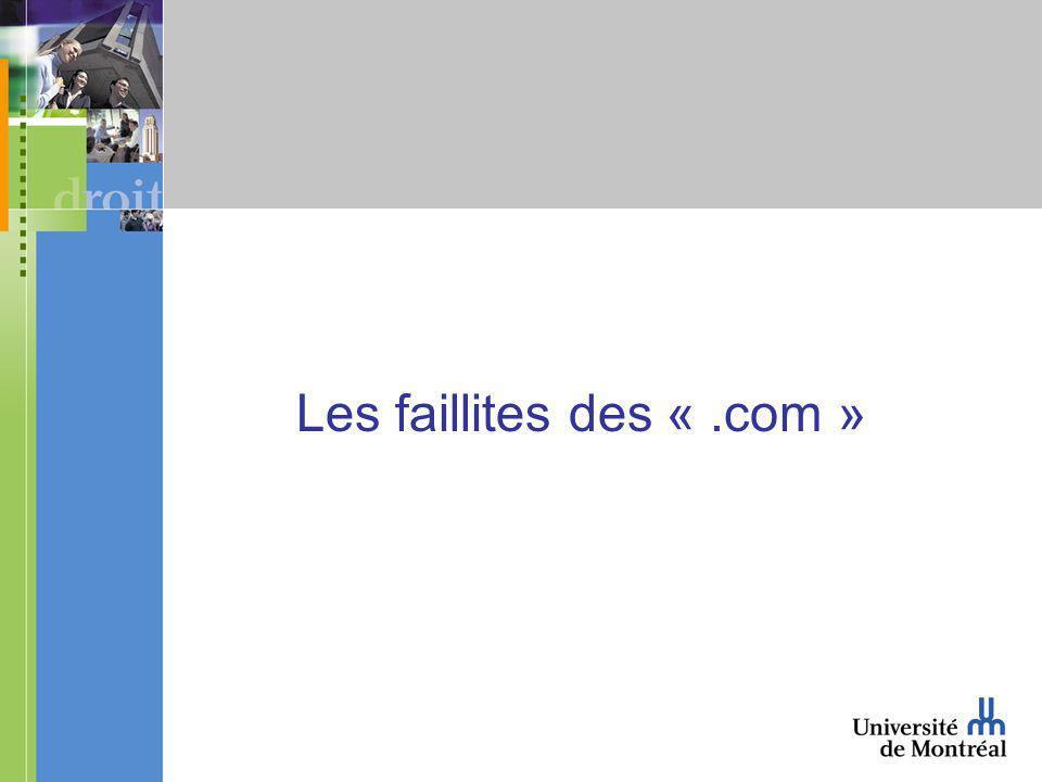 Les faillites des «.com »