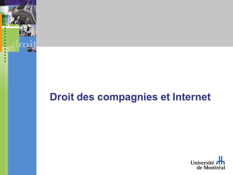 Droit des compagnies et Internet