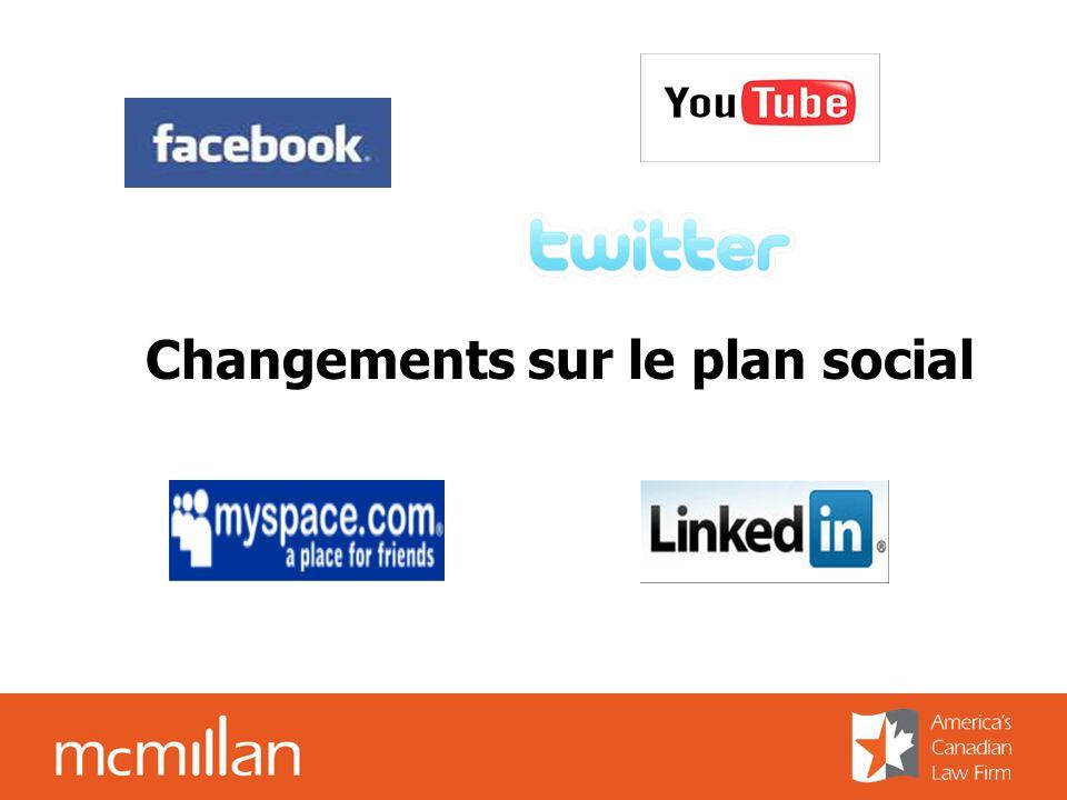Changements sur le plan social