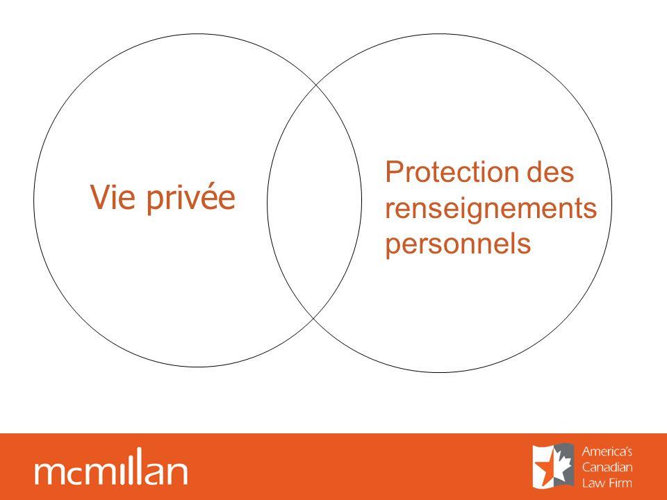 Vie privée Protection des renseignements personnels