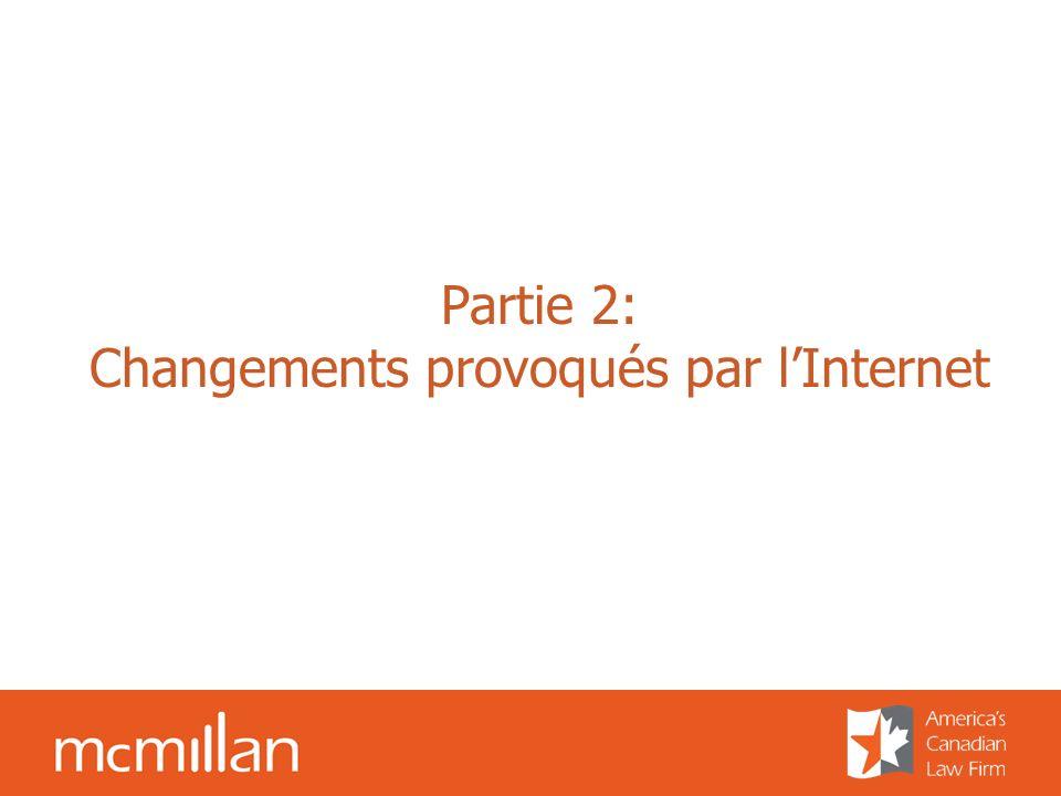 Partie 2: Changements provoqués par lInternet