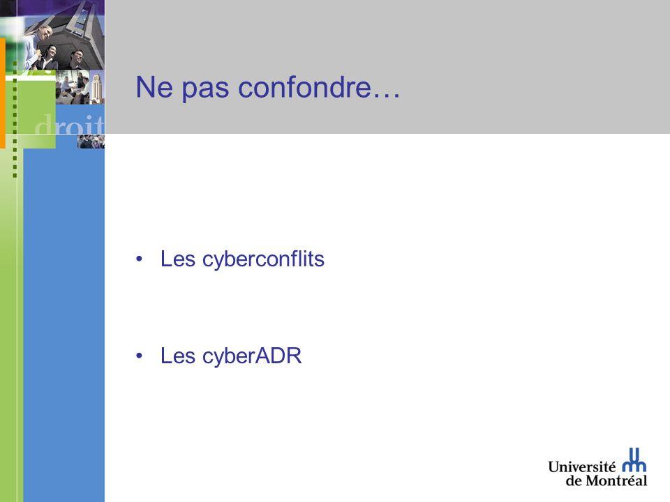 2.1 – Les limites matérielles au cyberarbitrage (suite 3) Art.