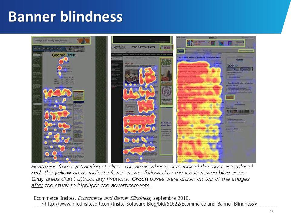 Banner blindness Ecommerce Insites, Ecommerce and Banner Blindness, septembre 2010, 36
