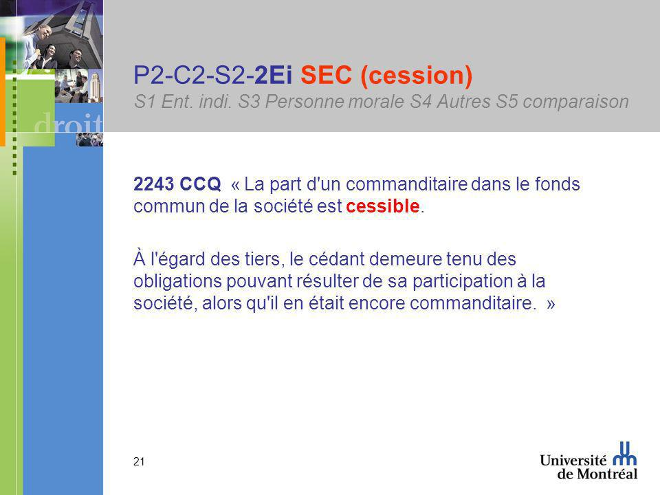 21 P2-C2-S2-2Ei SEC (cession) S1 Ent. indi.