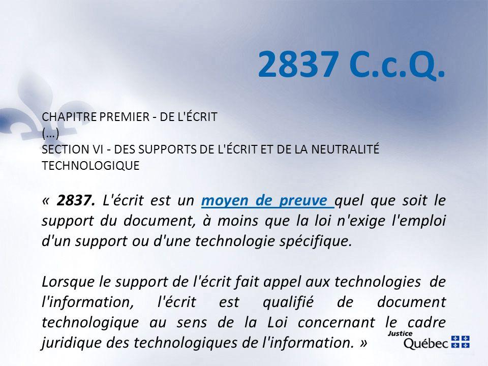 Élément matériel 2839 (2) C.c.Q.