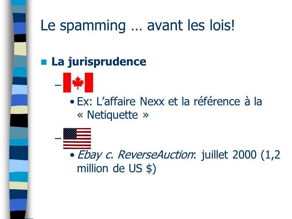 Le spamming … avant les lois.