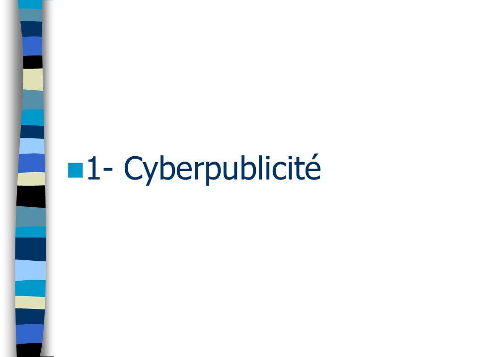1- Cyberpublicité