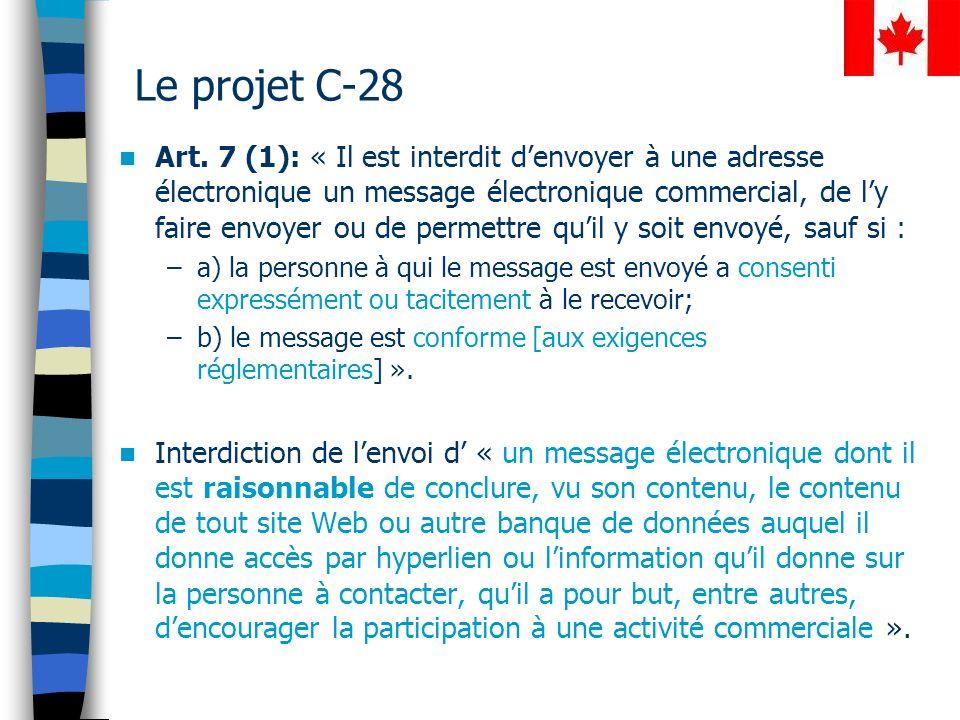 Le projet C-28 Art.