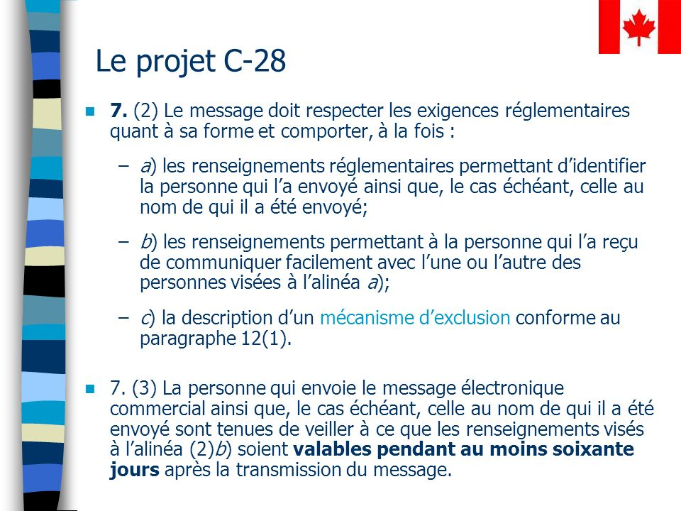 Le projet C-28 7.