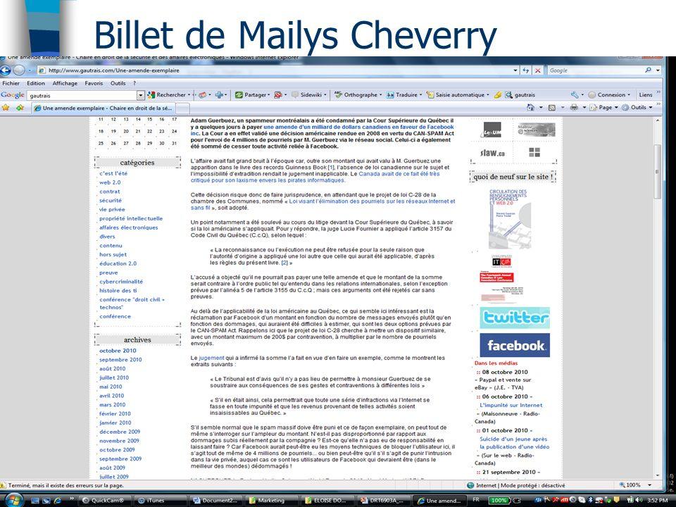 Billet de Mailys Cheverry Ce jugement a été entériné et - Adam Guerbuez (Atlantis Blue Capital)