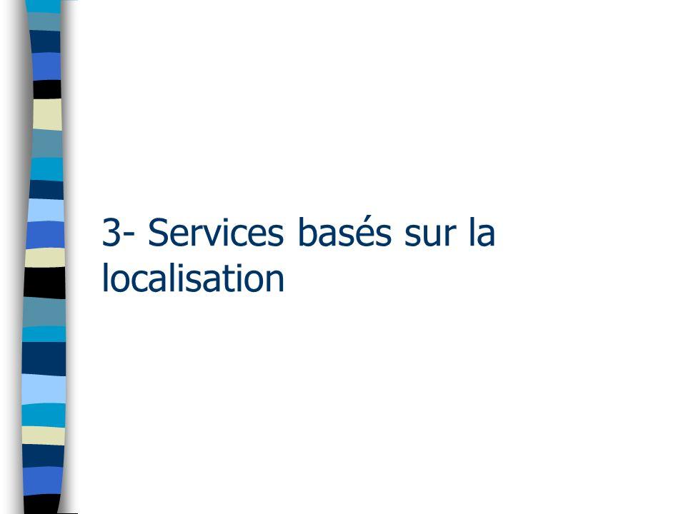 3- Services basés sur la localisation