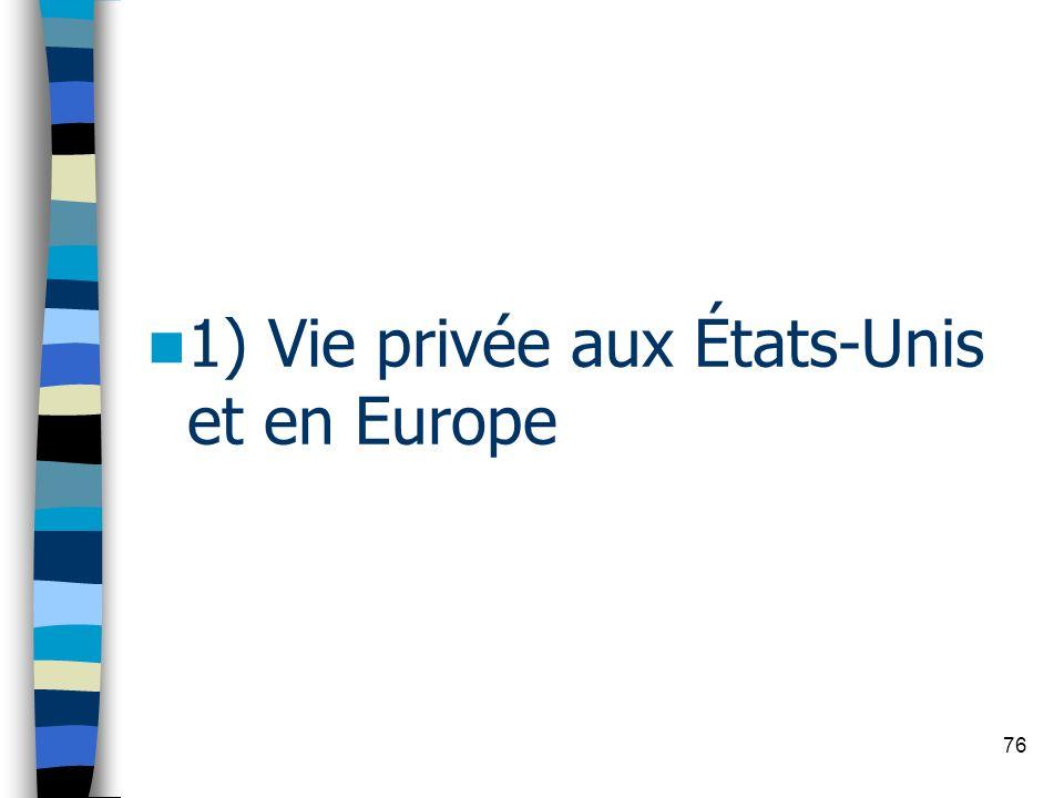 76 1) Vie privée aux États-Unis et en Europe