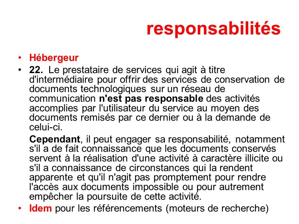 responsabilités Hébergeur 22.