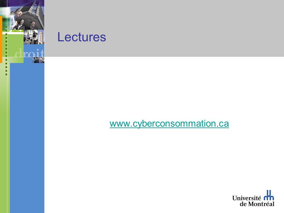 Lectures www.cyberconsommation.ca