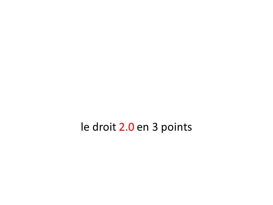 le droit 2.0 en 3 points