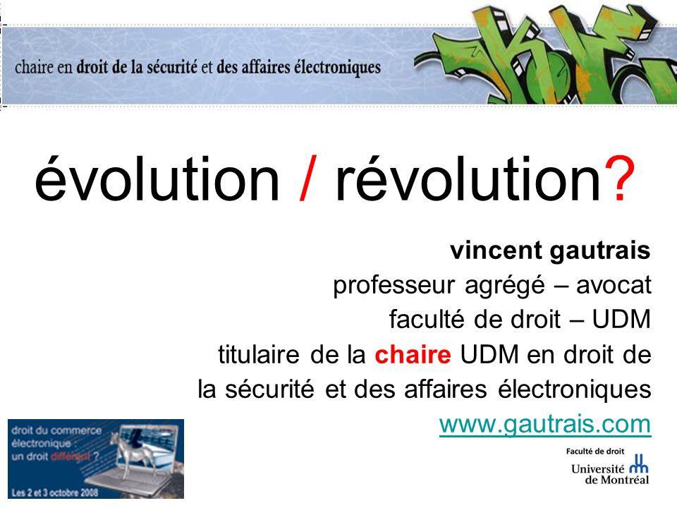 évolution / révolution.