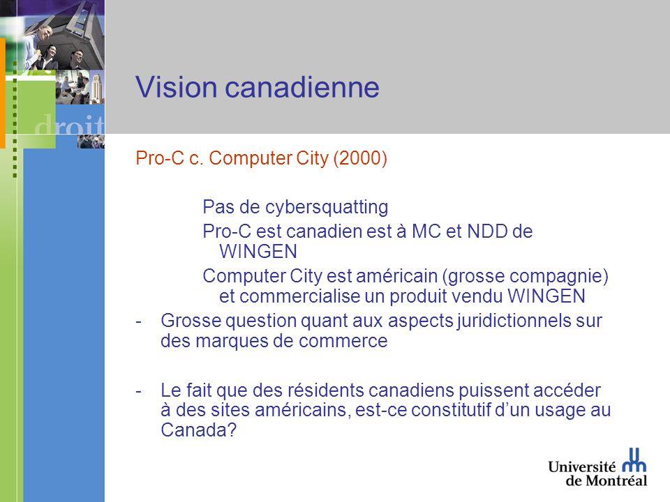 Vision canadienne Pro-C c.