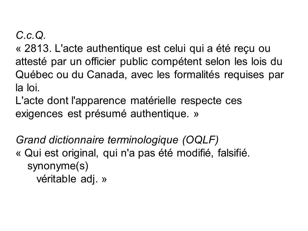 C.c.Q.« 2813.