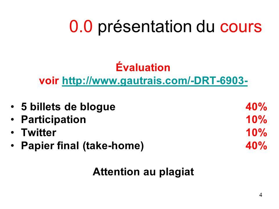 5 0.0 présentation du cours général / question -3 heures (+ or -) -1 pause -Intéraction -Questions ?
