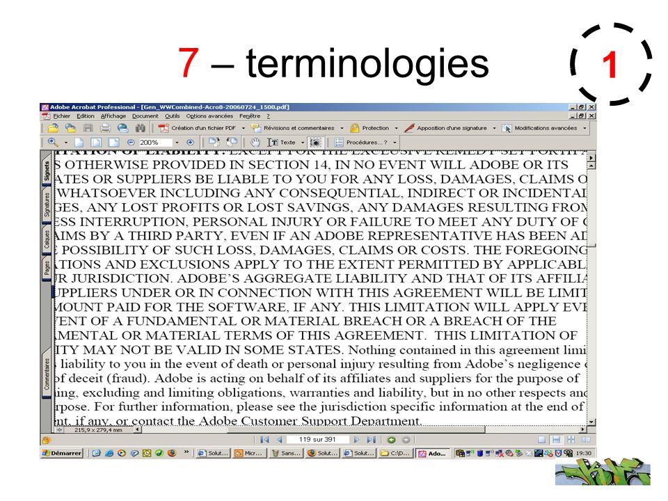 7 – terminologies 1