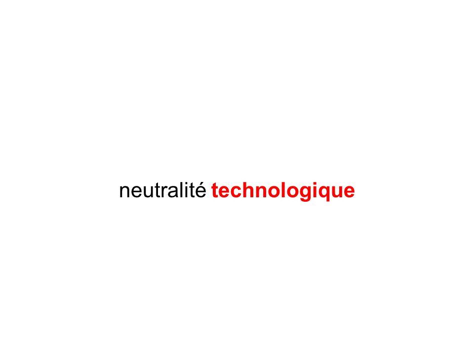 neutralité technologique